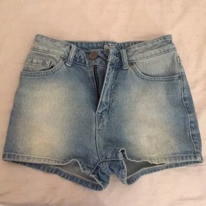 Blue Jean High-Waisted Shorts